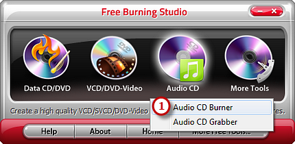 Activate Audio CD Burner